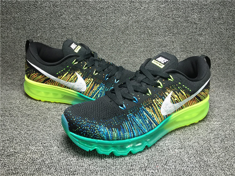 Nike Flyknit Air Max Black/lawngreen/darkturquoise