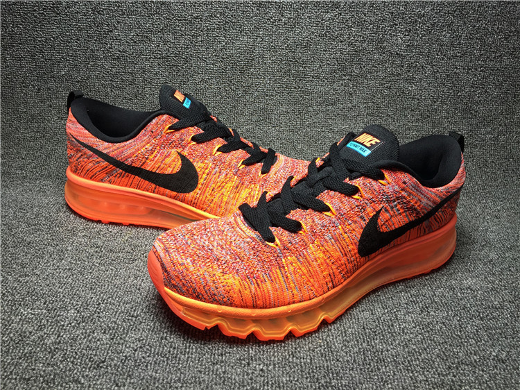 Nike Flyknit Air Max Construction Cone Orange/black