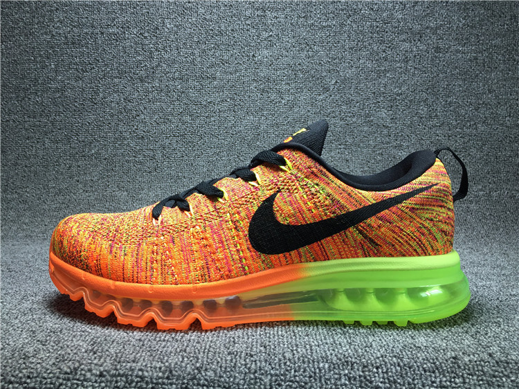 Nike Flyknit Air Max Alien orangered/Chartreuse