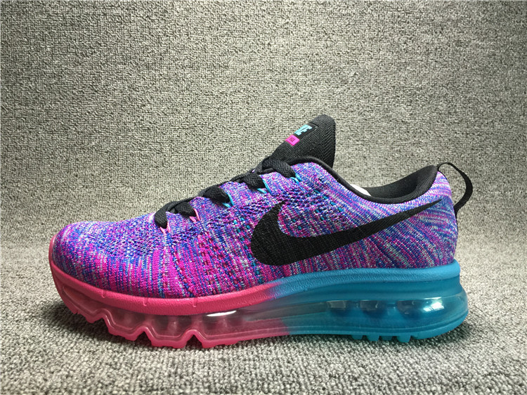 Nike Flyknit Air Max Black/Glacial Blue Ice/Violet Red