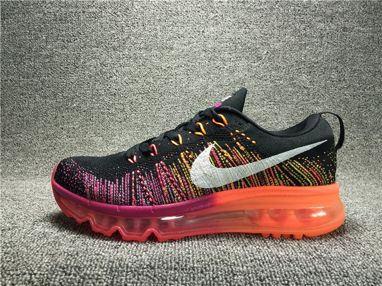 Nike Flyknit Air Max Black/orangered/Deeppink