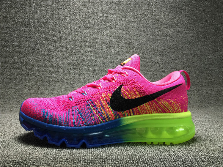 Nike Flyknit Air Max Neon Pink/Blue/Black