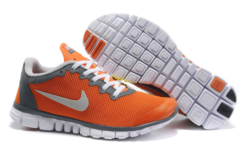 Nike Free 3.0 V2 Womens white/gray/orangered