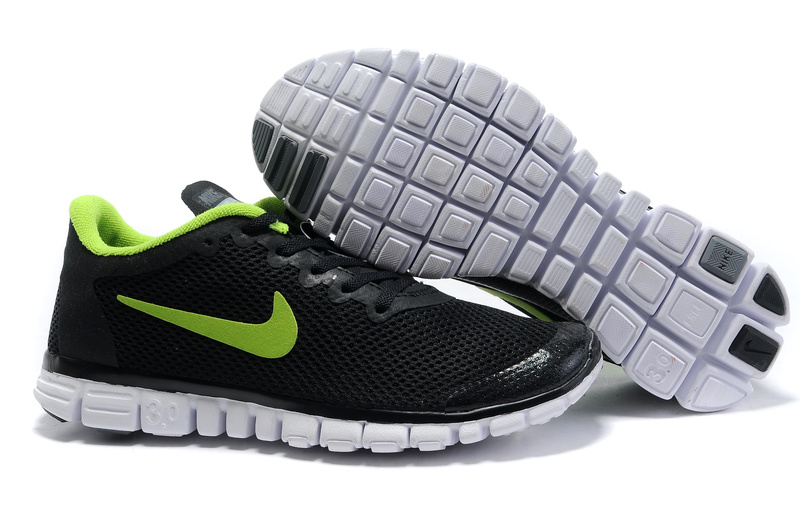 Nike Free 3.0 V2 Shoes white/black/lawngreen