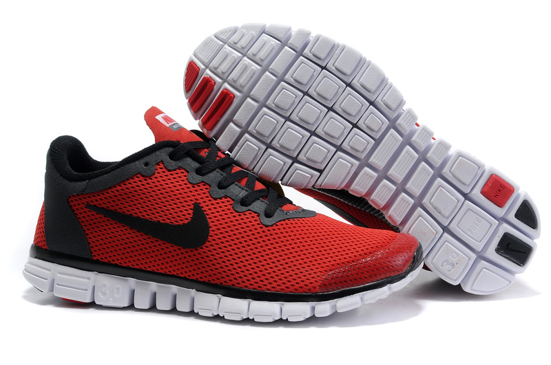 Nike Free 3.0 V2 Shoes white/black/red