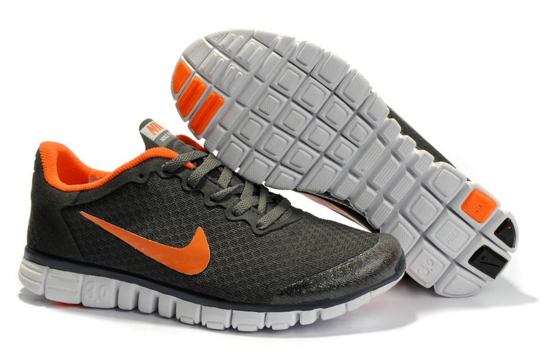 Nike Free 3.0 V2 Shoes white/orangered/darkolivegreen