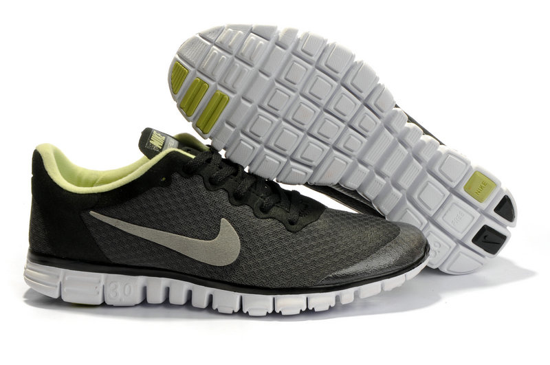 Nike Free 3.0 V2 Shoes white/black/yellowgreen