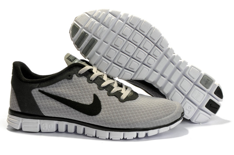 Nike Free 3.0 V2 Shoes black/white/gray