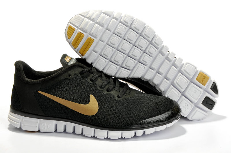 Nike Free 3.0 V2 Shoes white/black/gold