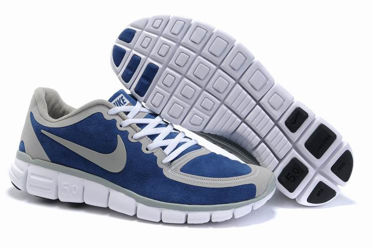 Nike Free 5.0 white/gray/blue
