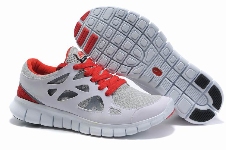 Free Run 2 Shoes white/gray/red