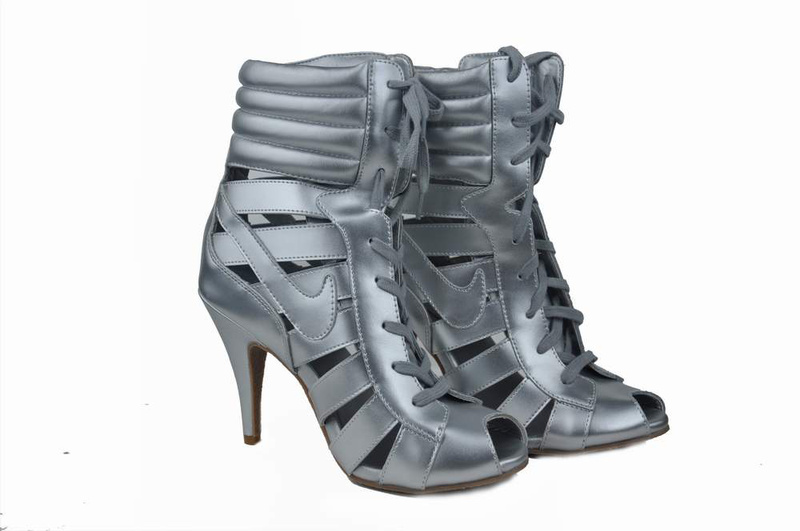 Nike High Heels Gladiator Sandals gray