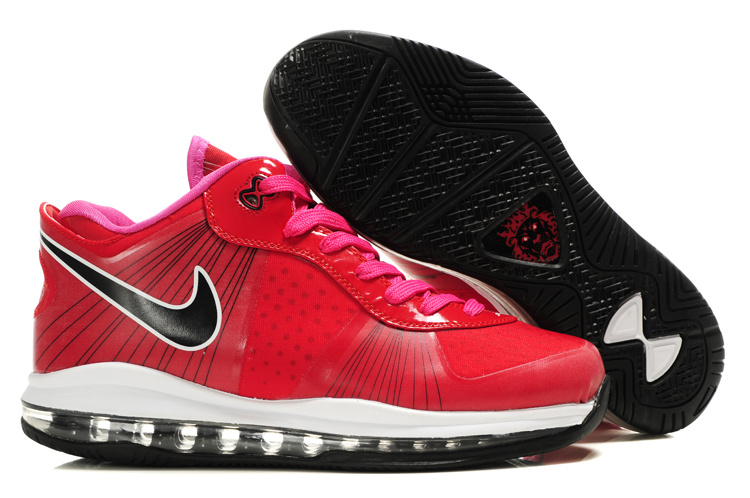 Nike Lebron 8 V2 Low Shoes white/red/black