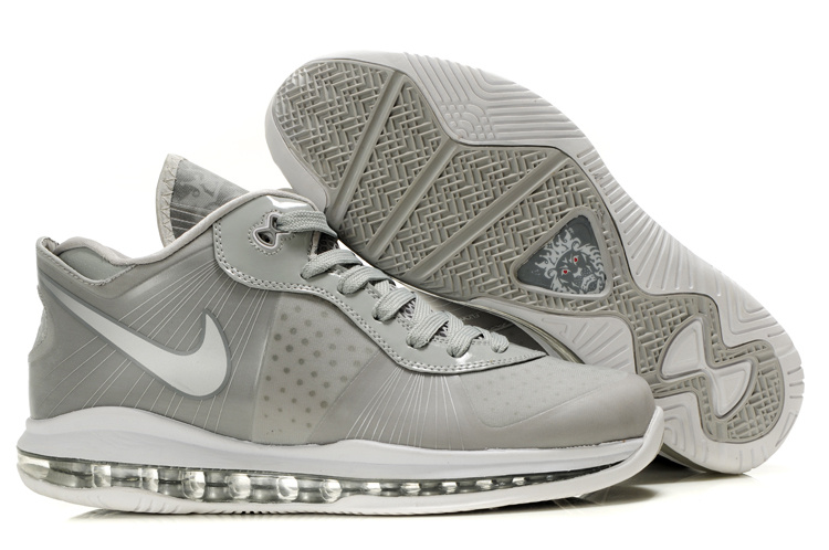Nike Lebron 8 V2 Low Shoes white/gray