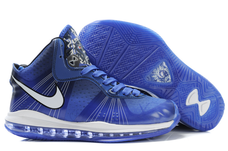 Nike Lebron 8 V2 black/white/blue