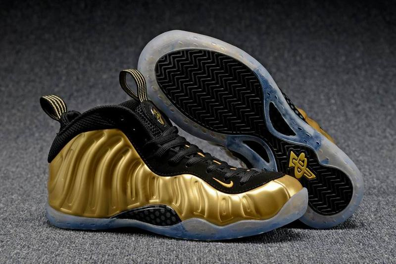 Nike Little Posite One black/gray/golden