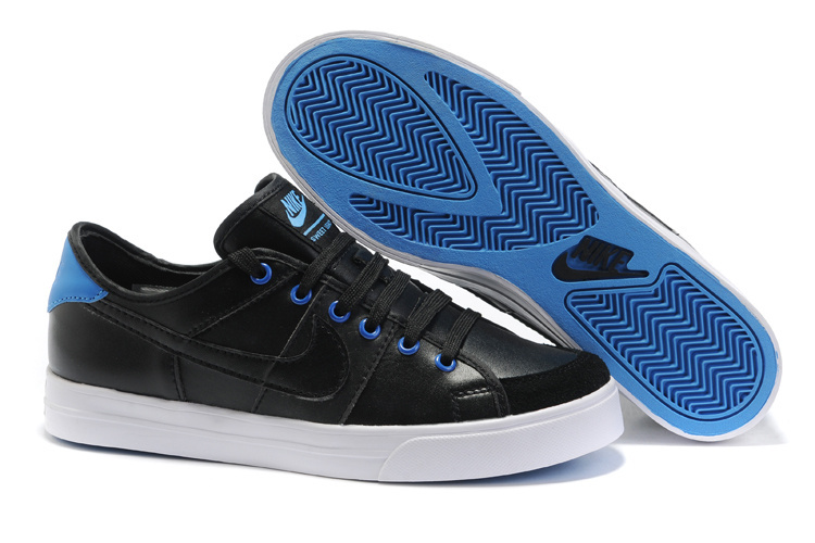 Nike Sweet Classic Leather Shoes black/white/blue