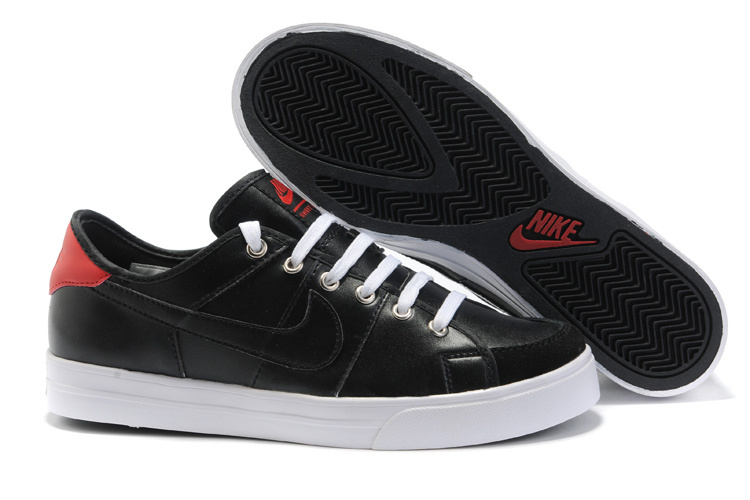 Nike Sweet Classic Leather Shoes black/white/red