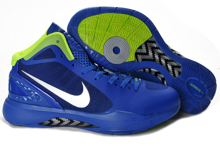 Nike Hyperdunk 2012 white/blue/lawngreen