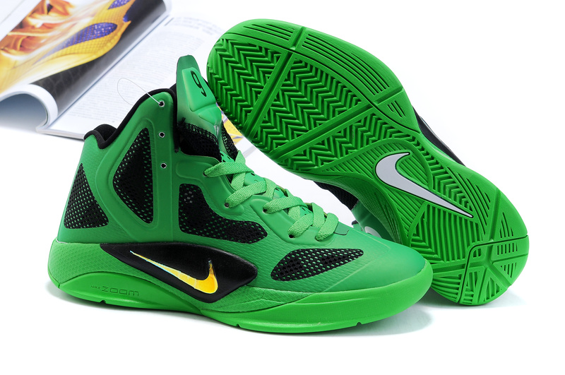 Nike Zoom Hyperfuse 2011 Shoes green/black