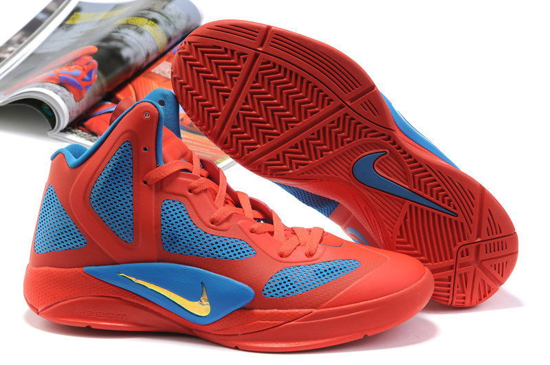 Nike Zoom Hyperfuse 2011 Shoes red/blue