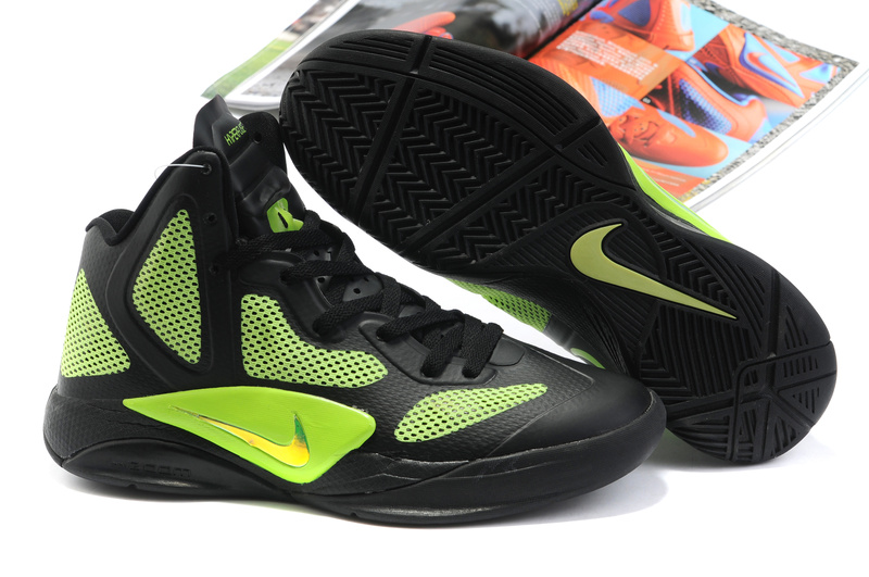 Nike Zoom Hyperfuse 2011 Shoes black/yellowgreen