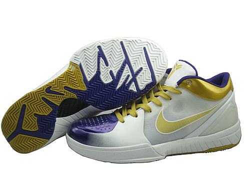 Nike Kobe 4 white/blueviolet/golden