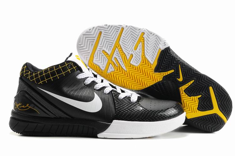 Nike Kobe 4 black/white/gold