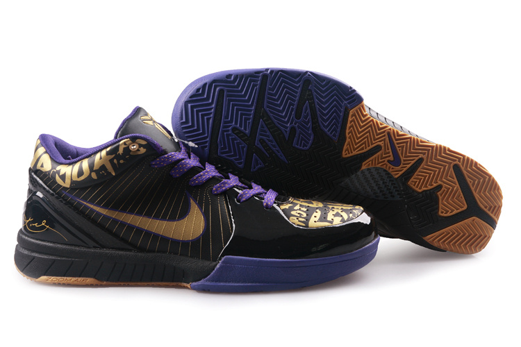 Nike Kobe 4 black/golden/Blue purple