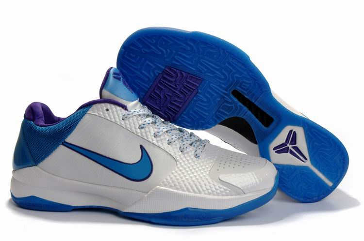Nike Kobe V Shoes white/blue/blueviolet