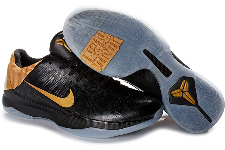 Nike Kobe V Shoes black/white/golden