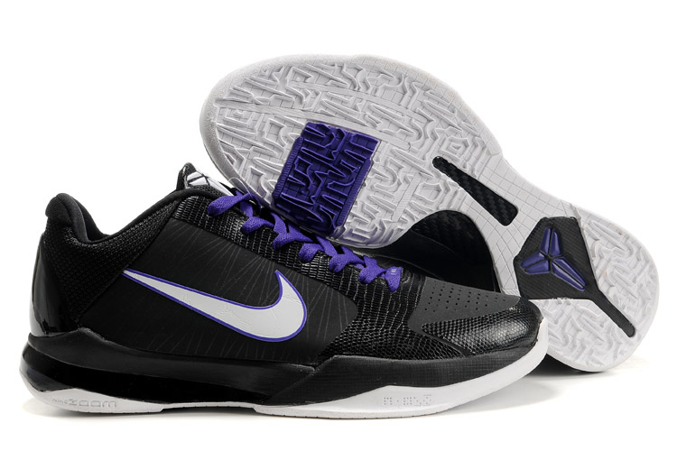 Nike Kobe V Shoes black/white/Deep blue II