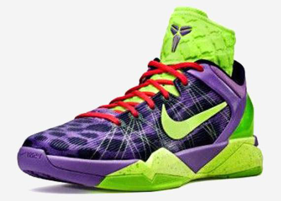 Nike Kobe VII darkviolet/lawngreen/red