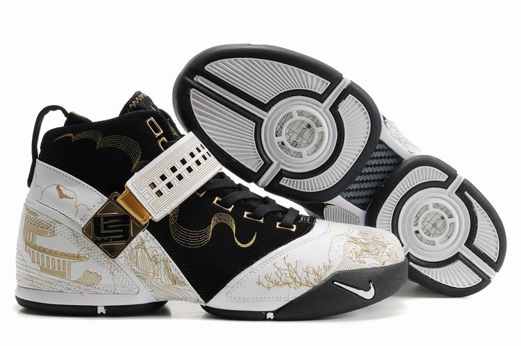 Nike Lebron 5 black/white/golden