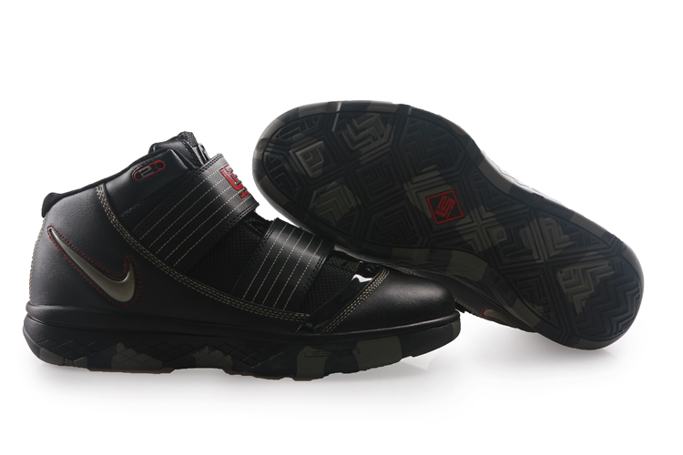 Nike Zoom Lebron James Soldier 3 black/gray/red