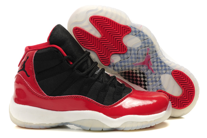 Air Jordan 11 Women's Shoes white/black/red II