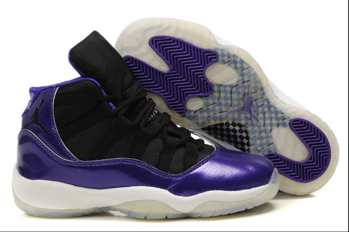 Air Jordan 11 Women's Shoes white/black/blueviolet