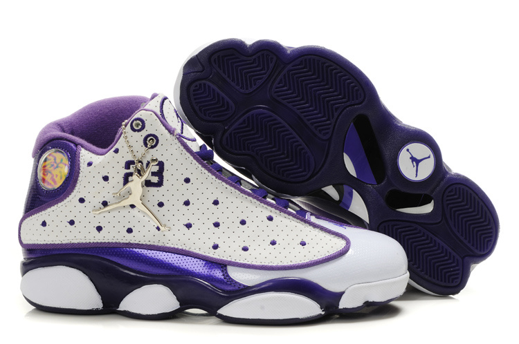Air Jordan 13 Women Shoes white/blueviolet/Navy