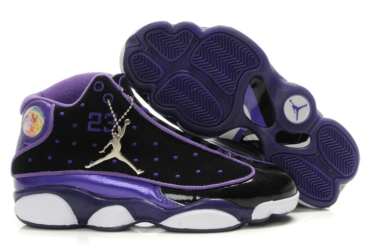 Air Jordan 13 Women Shoes black/blueviolet