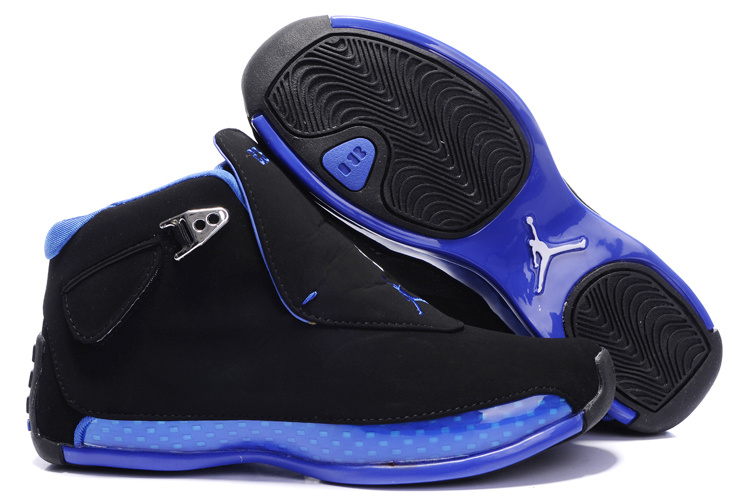 Womens Air Jordan 18 black/blue