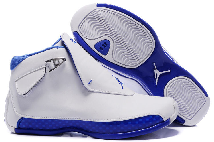 Womens Air Jordan 18 white/blue