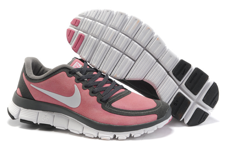 Women's Nike Free 5.0 Running Shoes white/slategray/pink
