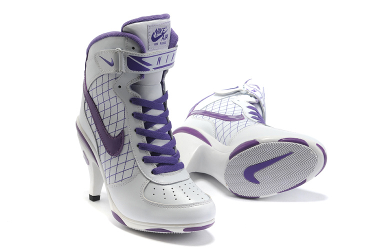 Nike Air Force 1 Mid 07 High Heels white/blueviolet