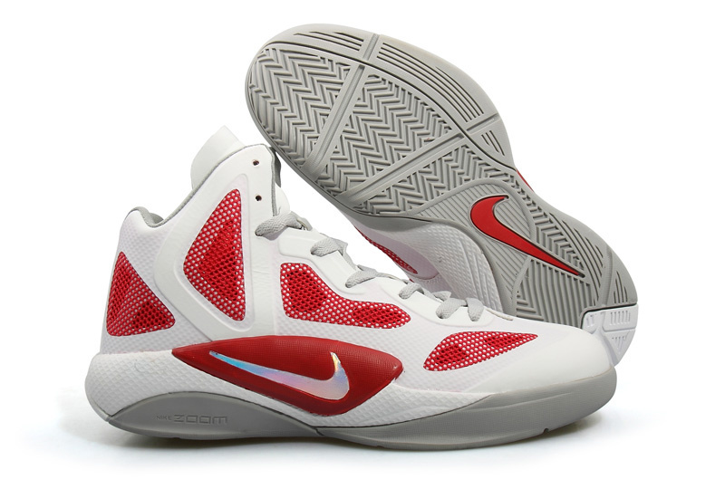 Nike Zoom Hyperfuse 2012 white/Grey/red