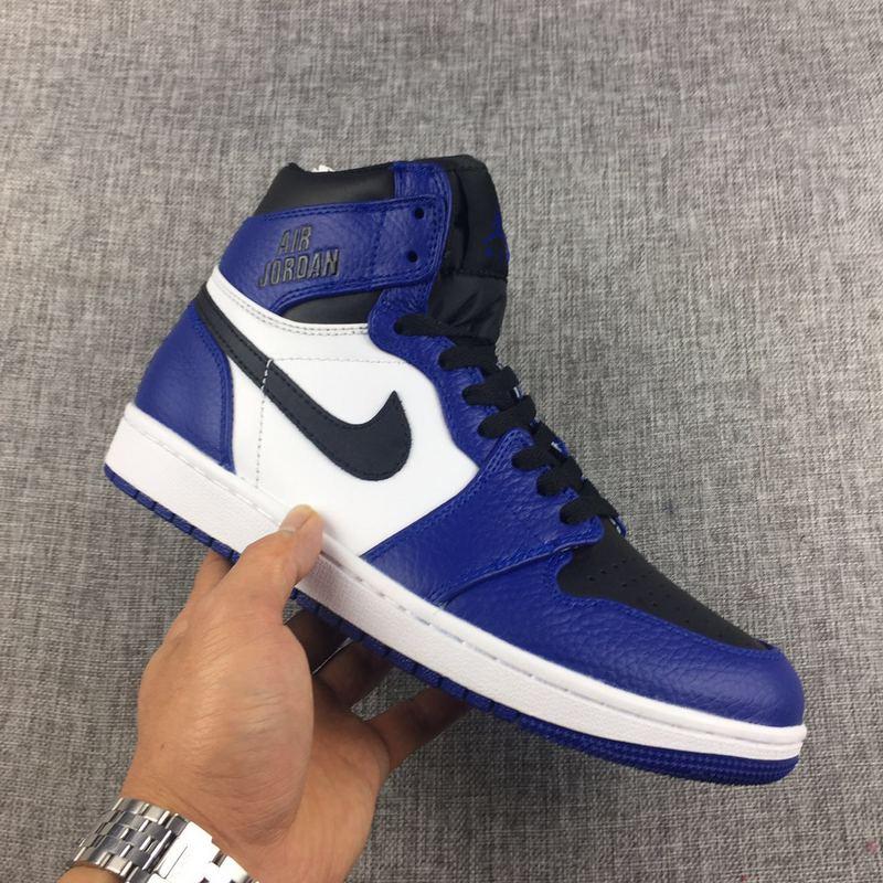 nike air jordan 1 blue and black