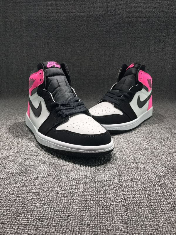 Air Jordan 1 Retro Black/White/Deeppink