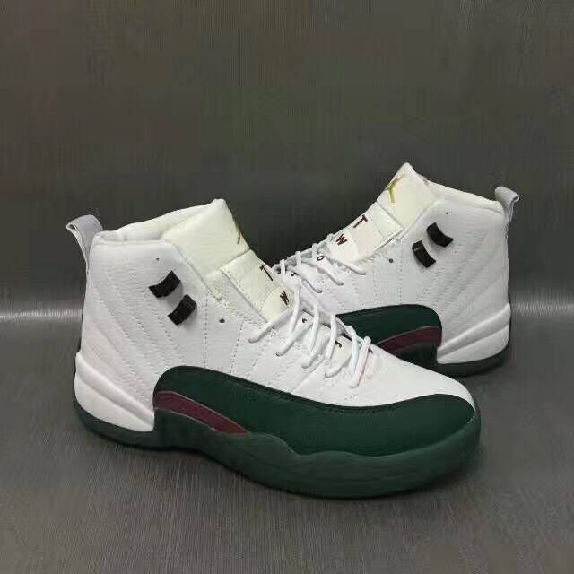 Air Jordan 12 Retro White/Black/Darkgreen