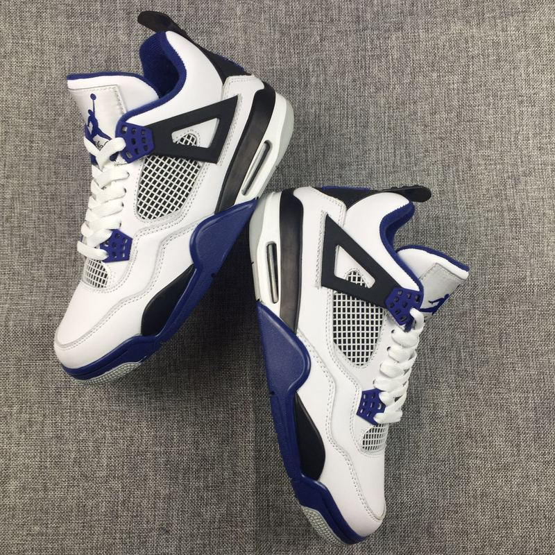 Air Jordan 4 Retro White/black/blue