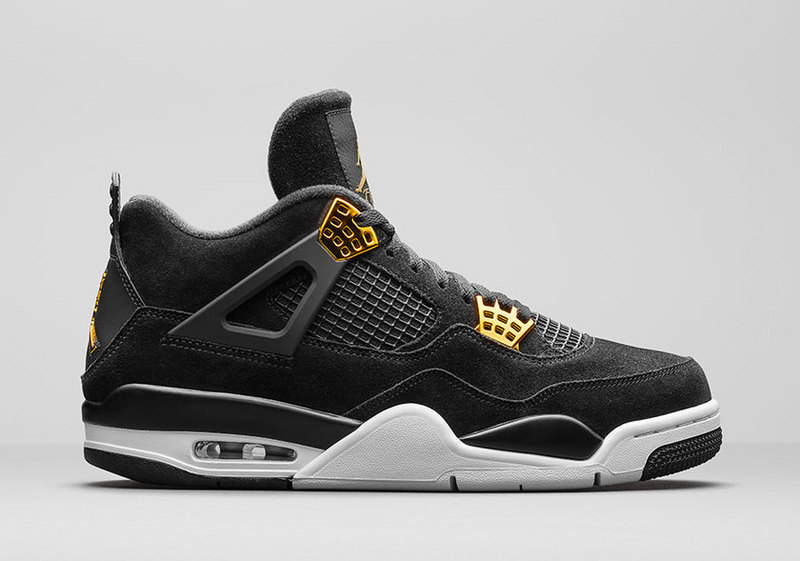 Air Jordan 4 Retro Black/White/Metallic Gold/Metallic Gold