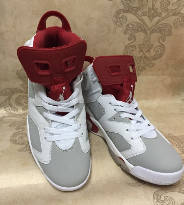 Air Jordan 6 Retro white/gray/red - Click Image to Close